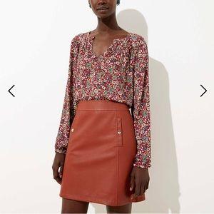 Brand new LOFT brown skirt size 6